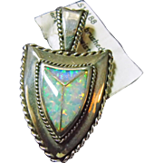 Sterling Pendant with Opal Inlay