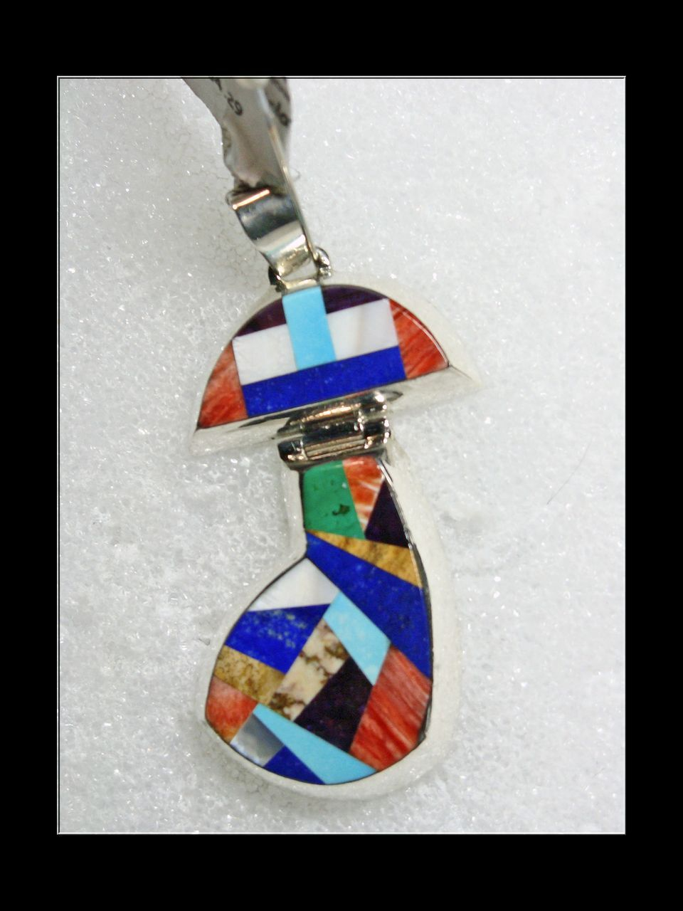 Alvin Yellowhorse Stone on Stone Inlay Pendant