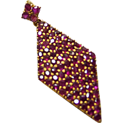 18k Diamond Shape Ruby Pendant