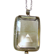 Sterling Silver Emerald Cut Smokey Quartz Pendant on a Sterling Silver Chain