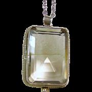 Sterling Silver Emerald Cut Smokey Quartz Pendant on a Sterling Silver Chain