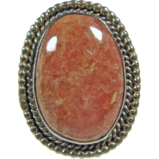 Southwestern Sterling Silver Rhodochrosite Ring
