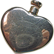 Tiffany  Heart Shape Sterling Silver Pocket Perfume