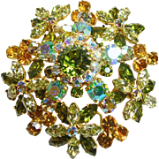 Stunning Made in Austria Crystal Rhinestone Brooch