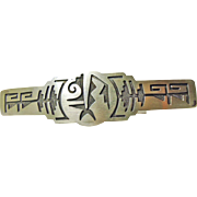 Sterling Silver Barrette with Hopi Style Decoration