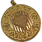 Vintage Gold Over Brass Locket