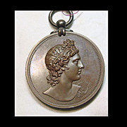 Bronze Pendant Portrait Awarded by Royal Academy of Music in 1922