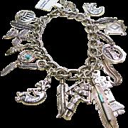 Sterling Silver Southwestern Charm Bracelet