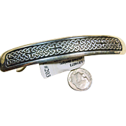 Sterling Silver Hair Clip with Celtic Weave  Design