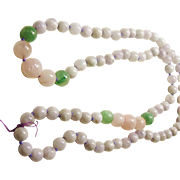 Rose Quartz,  Aventurine and Amethyst Bead Necklace