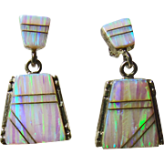 Opal Drop Style Earrings