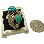 Sterling Silver Ring with Carved Turquoise