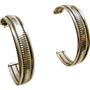 Sterling Silver 3/4 Hoop Earrings
