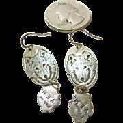 Sterling Silver Wolf Kachina Earrings