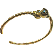 Victorian Gold Over Brass CrossOver Bracelet for a Small Wrist