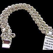 Stunning Sherman Double Row Rhinestone Bracelet