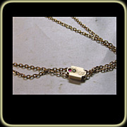 51 Inch Rose Gold Filled Watch Chain with Toggle and Gold Slide