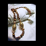 Bronze, Copper, Gold Color Vermeil  Necklace