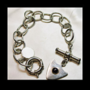 Sterling Silver Mexican Large Link Bracelet with Toggle