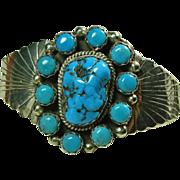 Sterling Silver Turquoise Cluster Bracelet