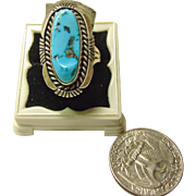 Native American Sleep Beauty Turquoise and Sterling Silver Ring