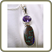 Australian Boulder Opal and Sterling Silver Chain Necklace
