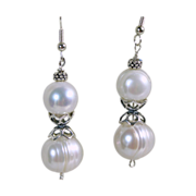 13mm Freshwater Baroque Pearls and Sterling Silver Earrings