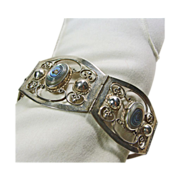 Sterling Silver and Abalone Shell Link Style Bracelet