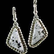 Sterling Silver White Buffalo Earrings