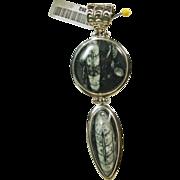 Large Sterling Silver Orthoceras Pendant