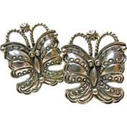 Sterling Silver Butterfly Earrings by Randy Boyd