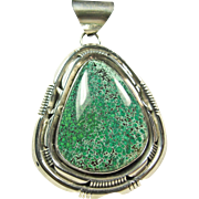 Robert Kelly Sterling Silver Pendant with Spider Web Turquoise