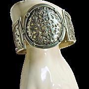Tibetan Sterling Silver Pierced Design Cuff Bracelet