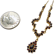 Gilt Bohemian Garnet Necklace