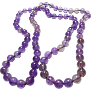 Amethyst Bead Endless Necklace