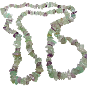 Fluorite Endless Chip Necklace
