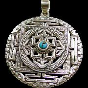 Handmade Sterling Silver Tibetan Pendant
