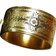 1940's Victorian Revival Bangle Bracelet