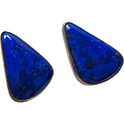 Washoe Sterling Silver and Lapis Earrings by Victor Gabriel