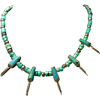 Sterling Silver and Turquoise Claw Necklace
