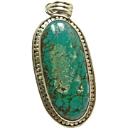 Sterling Silver Pendant with Tibetan Turquoise