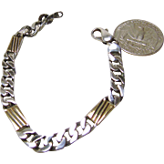 Italian Gold on Sterling Silver Figaro Chain Bracelet
