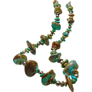 Necklace of Kingman Turquoise and Silver