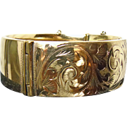 Victorian Rolled Gold Bangle Bracelet