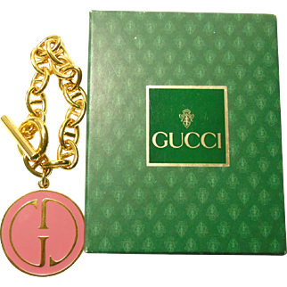 Iconic Vintage Gucci Charm Bracelet with Box and Tissue