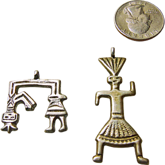 Native American Navajo Sterling Sand Cast Pendants