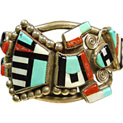 Rainbow God Sterling Silver Bracelet by Gillerimo and Betty Natachu