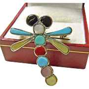 Sterling Silver Dragon Fly Pin/Pendant
