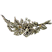 Victorian Silver and Gold Diamond Brooch
