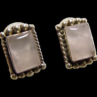 Sterling Silver Rose Quartz Earrings